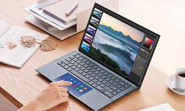 Điểm nhấn trên laptop màn hình phụ ZenBook 14 UX435