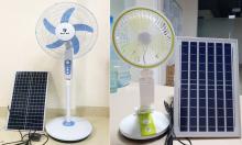 Quạt năng lượng mặt trời giá từ 200.000 đồng